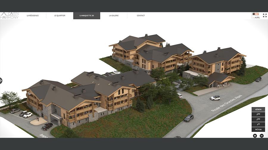 Maquette 3D EVIMMO programme immobilier neuf montagne