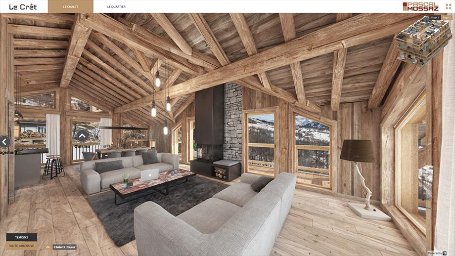 Visite virtuelle appartement neuf à la montagne