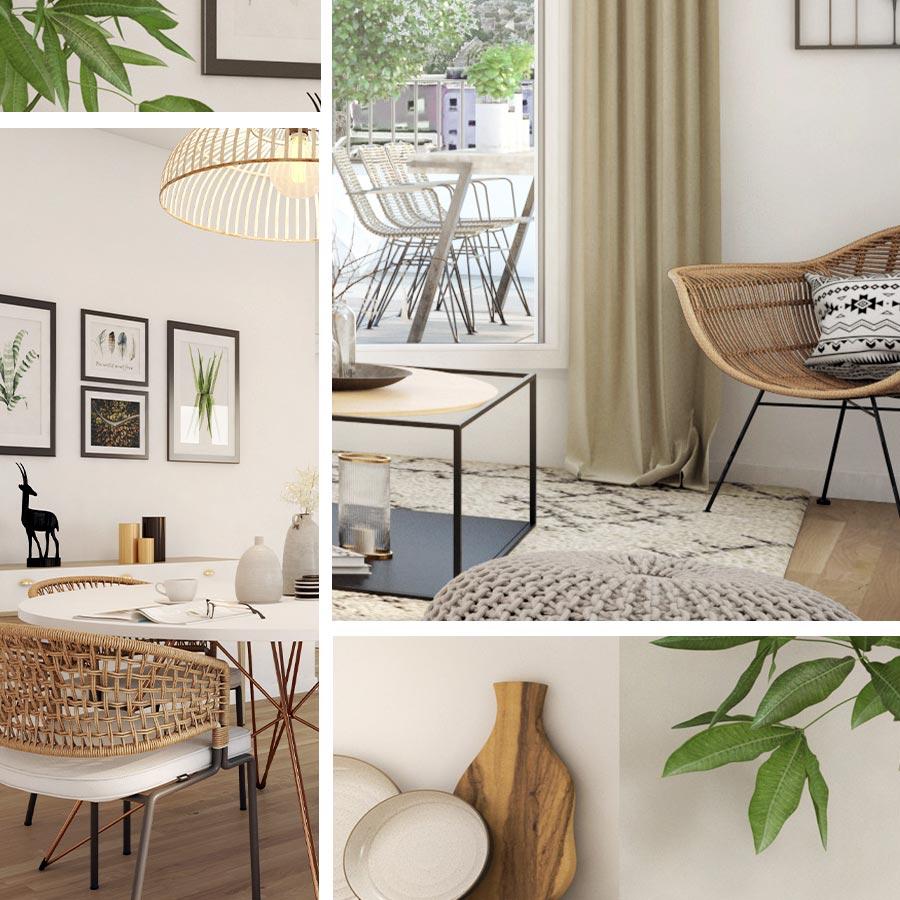Vues intérieures appartement neuf ambiance naturelle  Domaine de la Chesnaie II