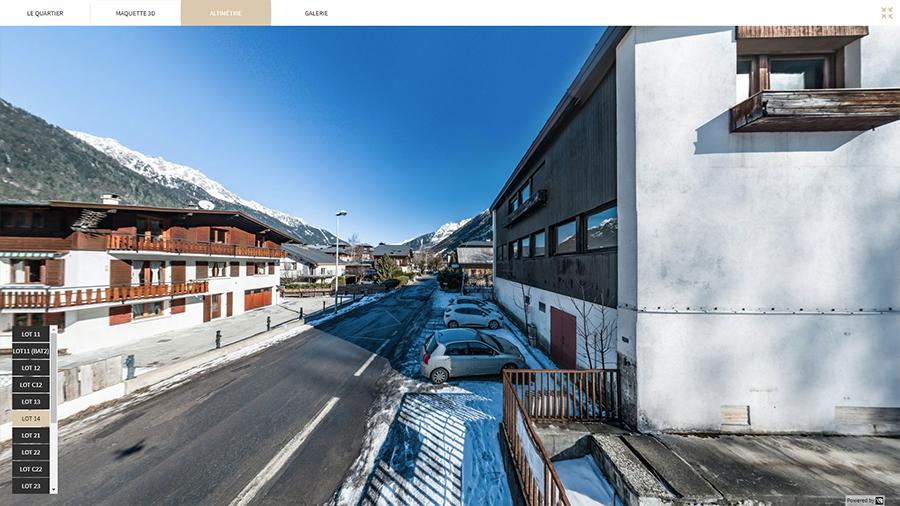 Vue réelle altimétrie logement neuf montagne