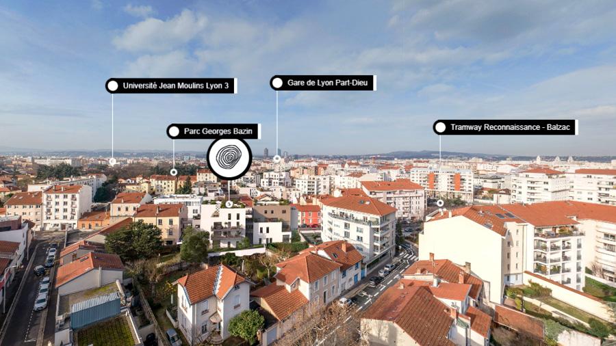 Programme immobilier photolocalisation lyon 7 environnement réel