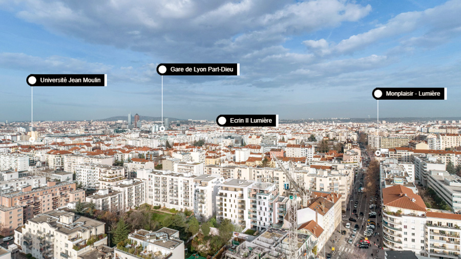 géolocalisation programme Ogic quartier de Lyon écrin de lumière